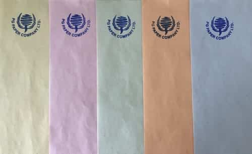 newsprint in different colours