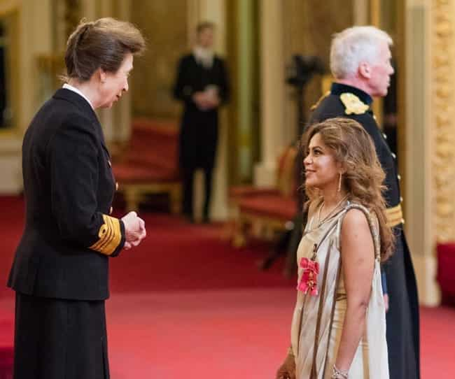 poonam gupta OBE ceremony