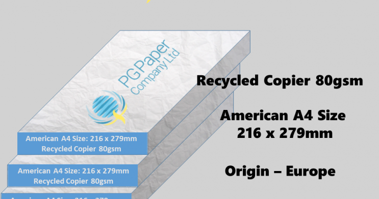 Stocklot – Recycled Copier Paper, American LetterSize
