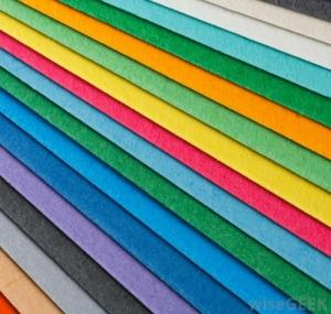 recycled coloured paper
