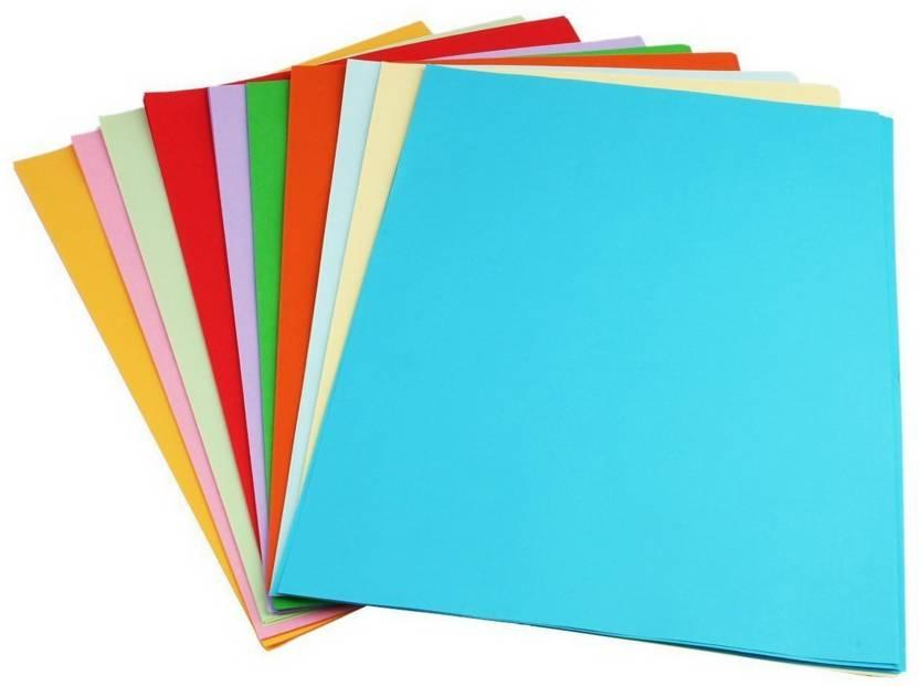 recycles coloured paper